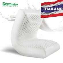 PurenLatex Лидер продаж 60x40x11 тайский натуральный латекс ортопедические массажный эффект Подушка продолговатая форма шеи позвоночника защищены большую мягкую подушку