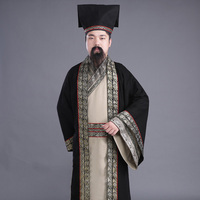 New arrival scholars long gown Chinese ancient costume male tang suit hanfu The Han Dynasty male costume