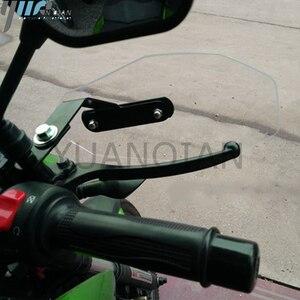 Image 2 - Czarny uchwyt do motocykla, ochraniacz przed wiatrem przezroczyste osłony ręki do YAMAHA V MAX 2009 2016 TBM 850 TDM900 Honda BMW Plastic