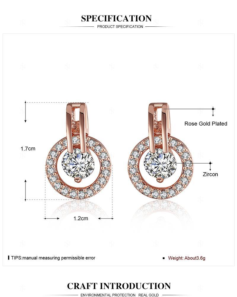 b76c6c9a0 INALIS White Bella Crystal Earrings For Women Real Crystal From Swarovski  Fashion Stud Earrings Party Jewelry Accessories E943