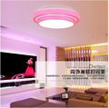 Double Aluminum Line LED Ceiling Light 15/24W Dia35CM acrylic flush retro kitchen modern livingroom Bedroom abajur Free Shipping