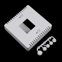 1 шт. Белый пластиковый чехол для корпуса для DIY LCD1602 измеритель с кнопкой 8,6x8,6x2,6 см 86