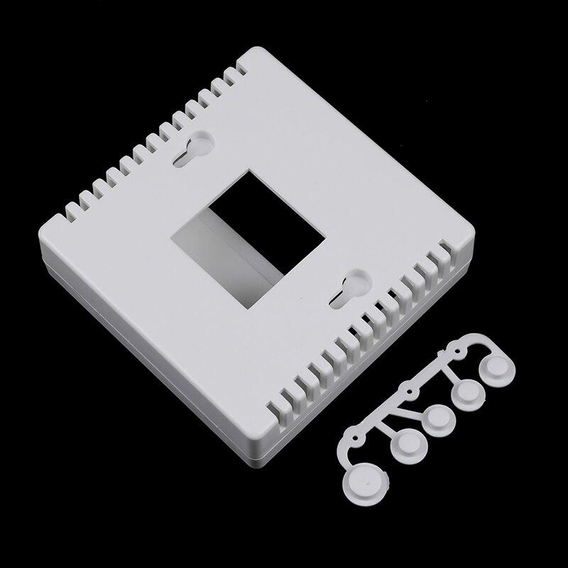 Корпус пластиковый для проектов «сделай сам», белый, 1 шт., LCD1602 метр, тестер с кнопкой, 8,6x8,6x2,6 см, 86