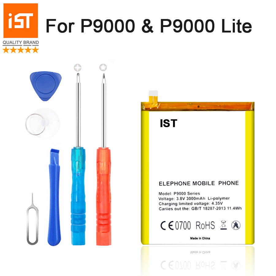 2017 New 100% IST Original P9000 Mobile <font><b>Phone</b></font> Battery For Elephone P9000 Lite Real <font><b>3000mAh</b></font> High Quality Replacement Battery