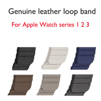 Genuine Leather Loop Band For Apple Watch Band 42mm 38mm Adjustable Magnetic Strap Bracelet For IWatch