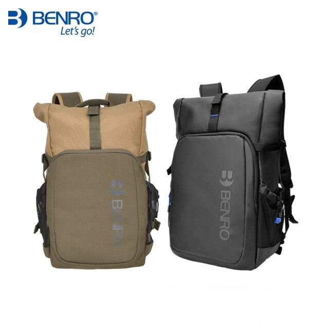 Benro incognito mochila dslr, bolsa de vídeo notebook, câmera de grande tamanho, macia, estojo de vídeo, capa de chuva