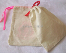 Купить с кэшбэком 100pcs/lot CBRL small cotton jewelry pouch cotton gift pouch cotton drawstring pouch bag gift bag bangles jewelry bag
