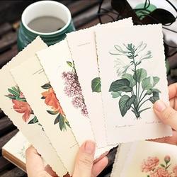 30 шт./лот, винтажная открытка с растением, открытка на день рождения, письмо, конверт, подарочная карта, набор, открытка