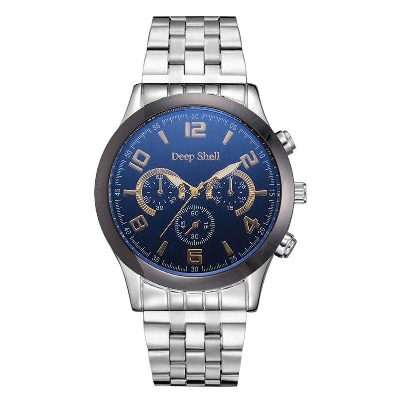 Deepshell Men Watch Top Brand Luxury Leather Engraved Dial Military Watches Clock Male Erkek Kol Saati Relogios s11