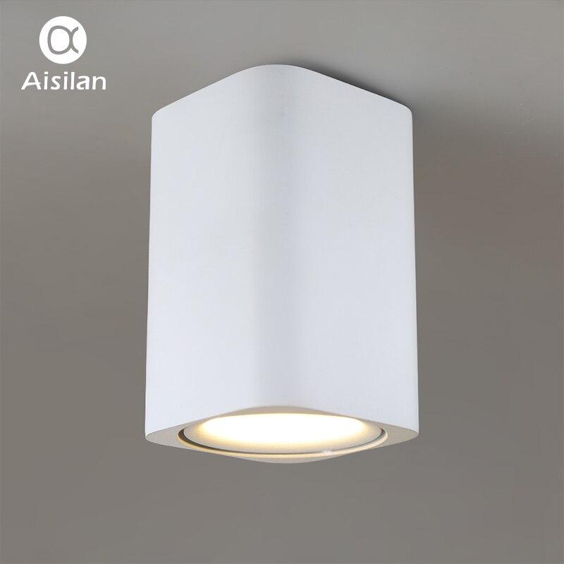 Aisilan cuadrado LED montado en superficie cubo Downlight de techo para habitación/corredor/pasillo AC85-260V COB diseño foco