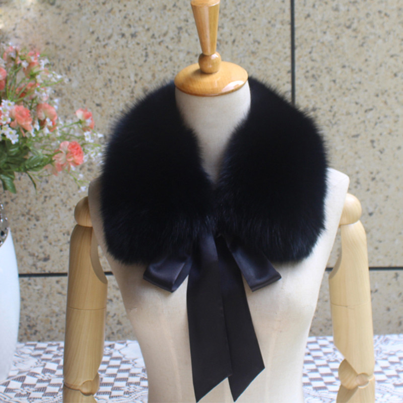 Winter fox fur collar wool coat jacket real fox fur collar scarf scarf decoration cute collar girl in L14 in Women 39 s Scarves from Apparel Accessories