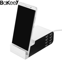 High Quality Bakeey 8 Ports 2 4A Type C Fast Charger Dock EU Plug For IPhone