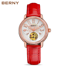 Berny Women Watch Automatic Mechanical Lady Watches Fashion Top Brand Luxury Relogio Montre Saat Feminino Bayan JAPAN MOVEMENT