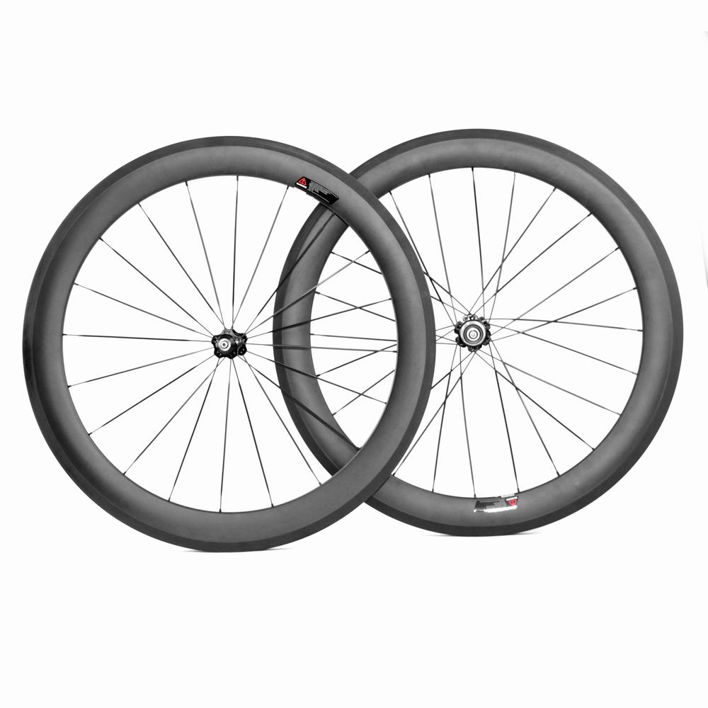 700c 60mm clincher carbon road bike wheelset for Shimano Sram or Campagnolo_8