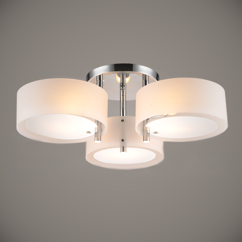 Modern Ceiling Light 3 Lights E26 E27 Brushed Nickel