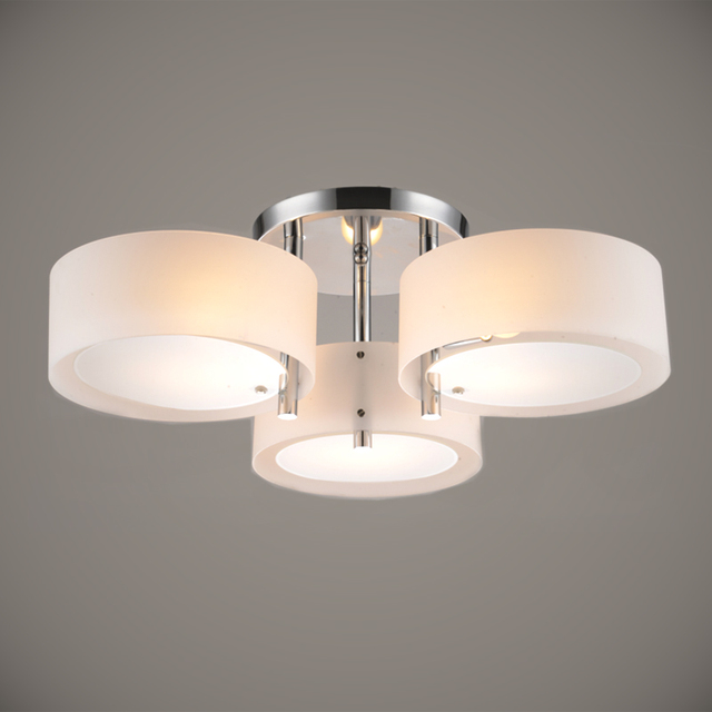 Modern Ceiling Light 3 Lights E26 E27 Brushed Nickel Acrylic Glass ...