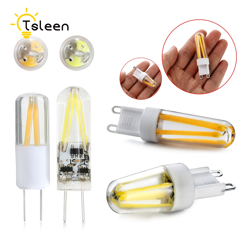 TSLEEN <font><b>G4</b></font> G9 LED Lamp AC 220V DC/AC <font><b>12V</b></font> 1.5W <font><b>2W</b></font> 3W 5W COB SMD LED Dimmable Lights replace Halogen Spotlight Chandelier Lighting image