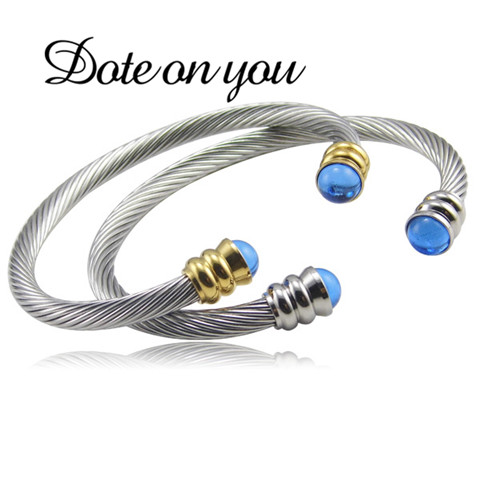 New Bracelet Fashion Jewelry Brand Twisted Cable Wire Retro Antique Bangle Elegant Beautiful Valentine Christmas Gift Bracelets