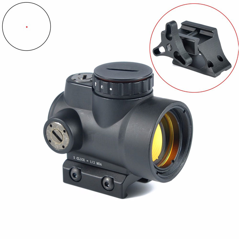 Tactical MRO Red Dot Sight 1X25mm 8 Brightness settings Scope With High/Low QD Mount Increase adaptor fit Picatinny Rail tactical trijicon mro style 1x red dot sight scope for high and low picatinny rail mount base hunting shooting m9159