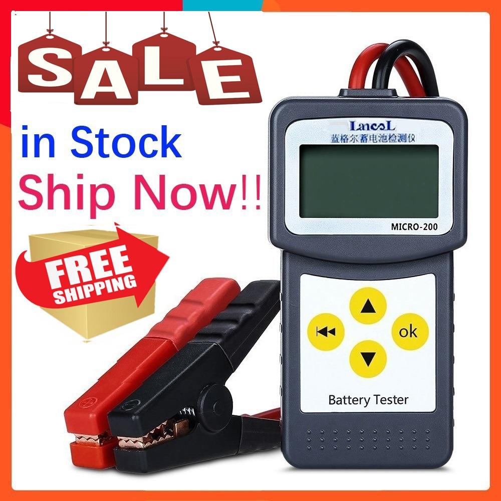 Original LANCOL Micro-200 12V Car Battery Tester SAE CCA Diagnostic Tool Digital Battery Analyzer