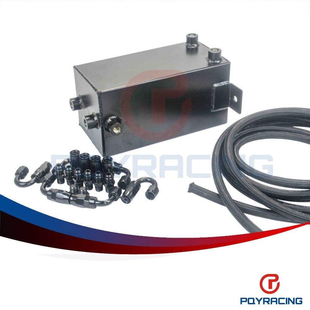 PQY - 4L Aluminium Surge tank Full BLack  Fuel cell 4L Universal Complete Fuel Surge Tank 4 L Swirl Pot System  PQY-TK32BK-W 55ml aluminium sub tank printer part