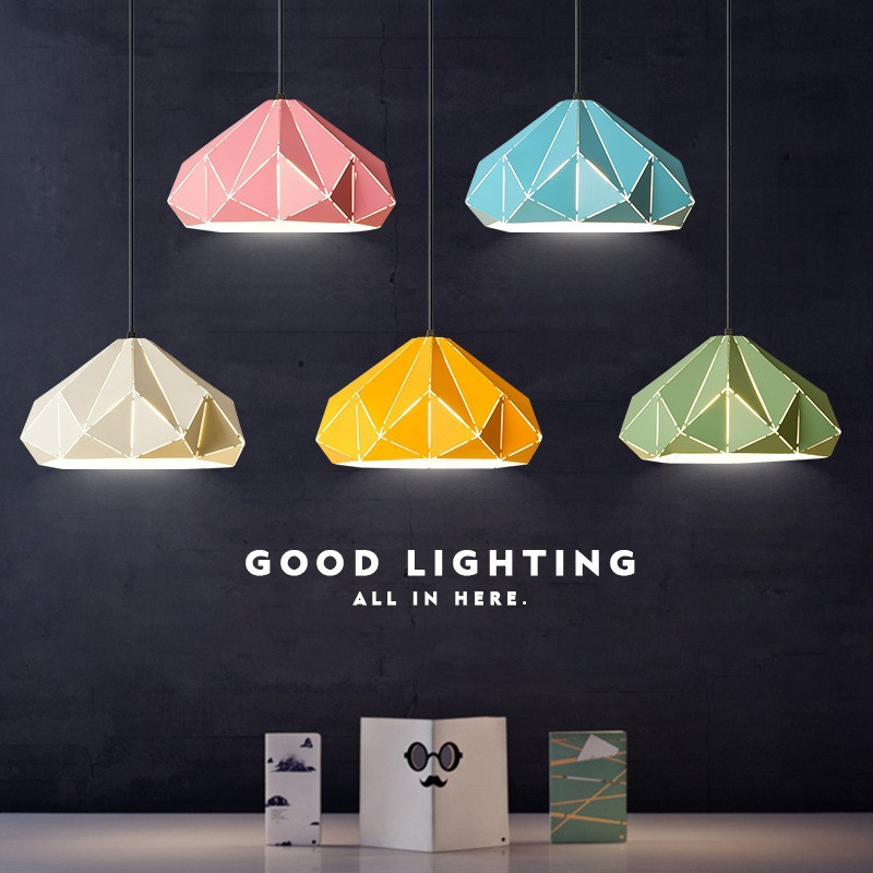 купить Retro Creative Colorful Restaurant Pendant Light Art Macarons Wrought Iron Hanging Lamp Study Coffee Shop Light With Led Bulbs недорого