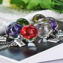 Dandelion Resin Pendant Great Gift for Best Friend Real Statement Necklace Jewelry Making Valentines Day