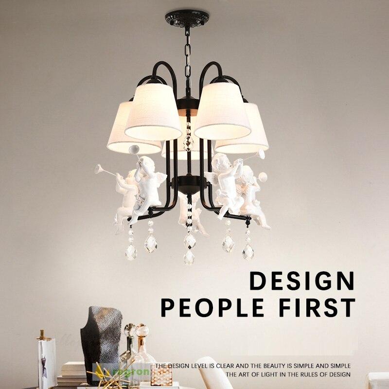 Современная деревенская винтажная лампа Освещение кафе Входные подвесные светильники E27 Лофт Барные светильники для кухни кухонные криста