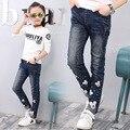 V-tree primavera adolescentes chicas jeans pantalón de moda para chica niños de la escuela de primavera otoño niños de los pantalones vaqueros 3-12 año