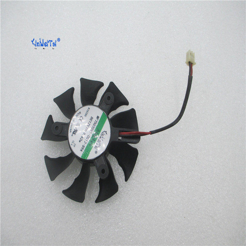 Card fan FOR 240 430 440 630 9800GT 9600GT Graphics card fan ND-8015M12B DC12V 75MM pitch:42X42X42MM 4pin mgt8012yr w20 graphics card fan vga cooler for xfx gts250 gs 250x ydf5 gts260 video card cooling