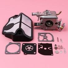 Carburador filtro de ar carb reconstruir kit reparo para husqvarna 36 41 136 137 141 142 motosserra peças reposição zama C1Q W29E