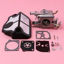 Filtro Aria carburatore Carb Ricostruzione Kit di Riparazione Per Husqvarna 36 41 136 137 141 142 Motosega Pezzi di Ricambio Zama C1Q W29E