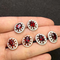 gems 5*7mm Perfact 100% natural garnet earrings  womens fashion earrings