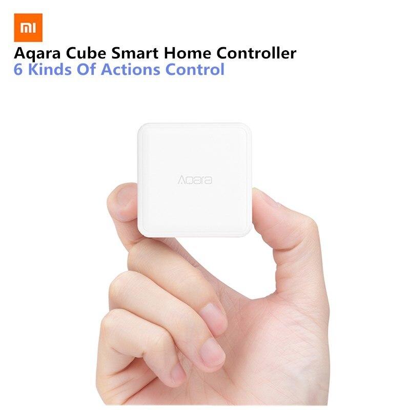 Original Xiao mi Aqara Cube Smart Home Controller 6 Action Operation Fr Home Device Zigbee versión App Control remoto inalámbrico
