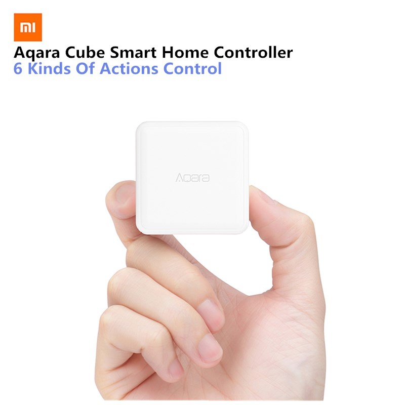 Original Xiaomi Mi Aqara Cube Smart Home Controller 6 Action Operation Fr Home Device Zigbee Version App Wireless Remote Control цены онлайн
