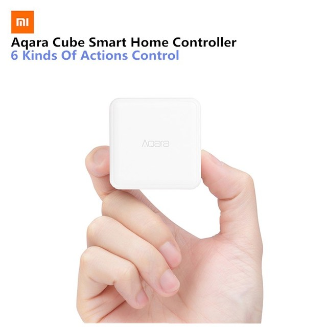 Xiaomi Aqara Cube Controller Smart Home Controller 6 Action Operation Fr Home Device Zigbee Version App Wireless Remote Control
