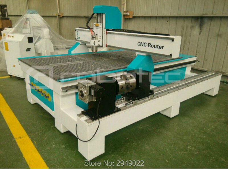 Jinan 3D Milling Machine CNC Router/1530 Woodworking Machine With Rotary 4 Axis