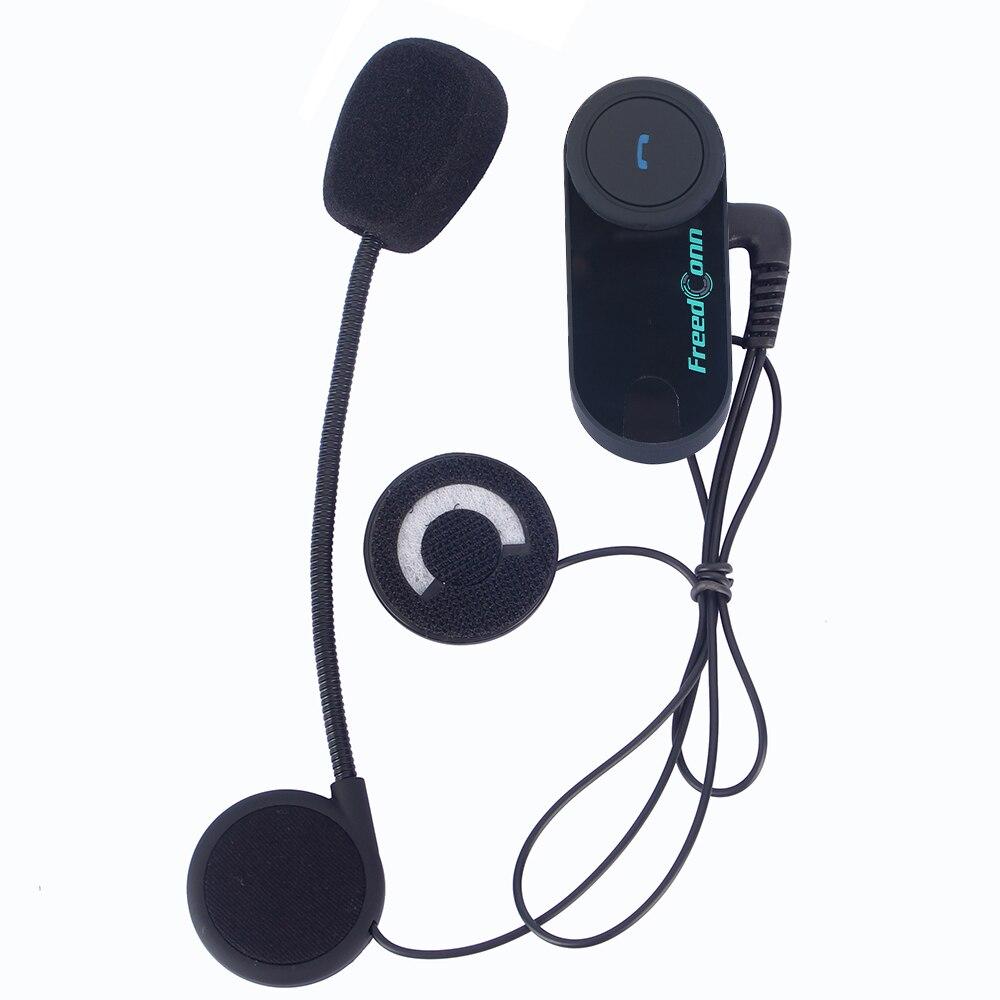 Freedconn Capacete Da Motocicleta Bluetooth Headset Intercom 100M BT Interfone Sem Fio fone de Ouvido Estéreo de Rádio FM