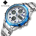 Fashion Men Watch WWOOR Brand Casual Watches Men Top Brand Waterproof Luxury Steel Men Wristwatches Quartz Watch reloj hombre