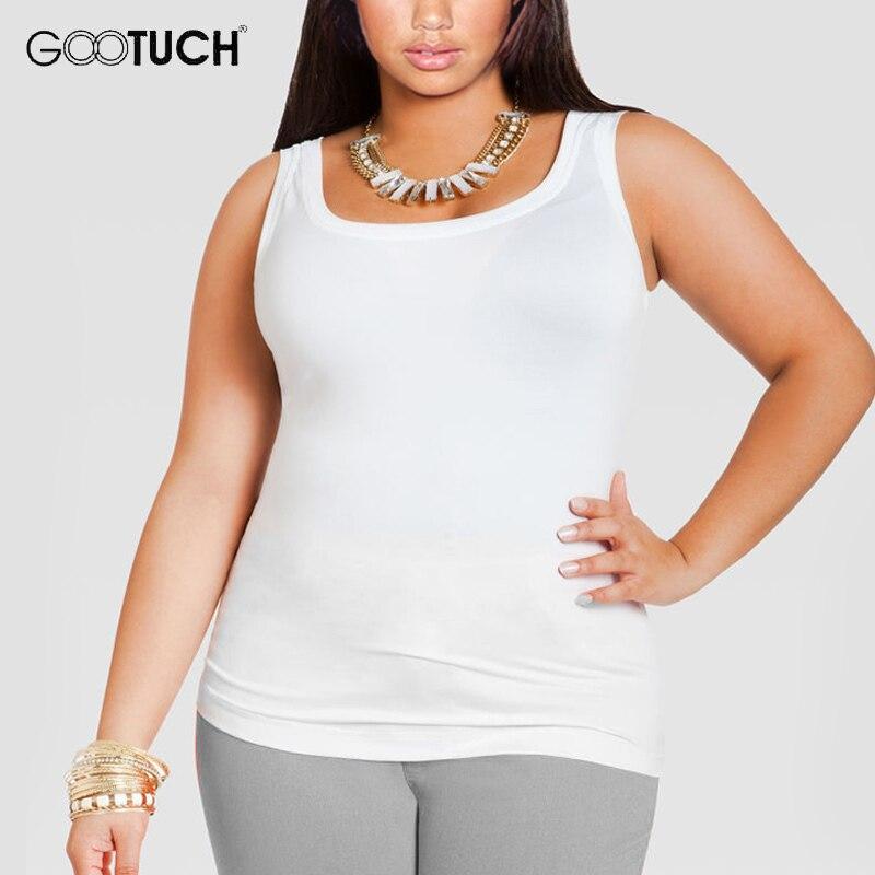 Womens Katoenen Tank Tops Plus Size 4XL 5XL 6XL vrouwen Mouwloze T-shirt Grote Maat Hemd Dames Sexy Wit Singlet 049A