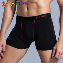 Boxershorts Men Boxer Men Underwear Sexy Boxer Gay Calecon Man Cotton Male Underwear for Man Under Wear Penis Long Brand cheap BONITOS Boxer Shorts B2 Black Red Solid spandex European standard size Delivery Time 7-20 days Soft 95 Cotton 5 Elastic force