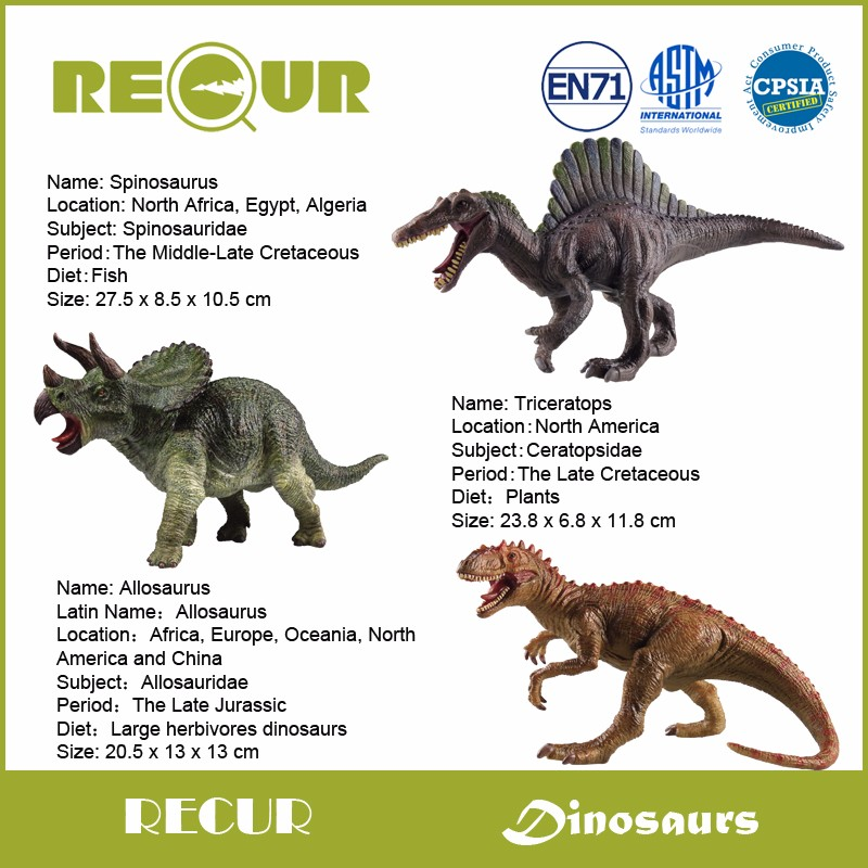 Spinosaurus North American Mini Toy Dinosaur Figure Hand Painted Highly Detailed