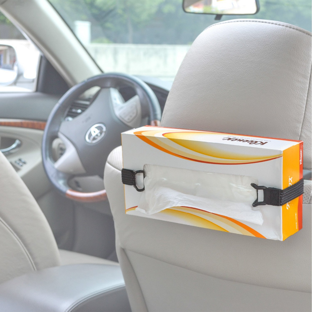 Mobile Phone Accessories Humorous Tfy Car Visor Headrest Strap Holder For Kleenex Facial Tissues And Other Napkin Paper Boxs