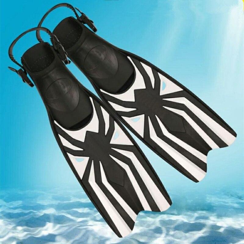 Professionnel plongée palmes de plongée adulte Réglable chaussures de natation En Silicone long Submersible Snorkeling Pied monopalme Plongée Palmes
