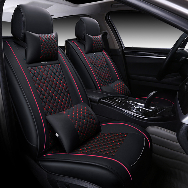 GEEAOK car seats cover for ford focus toyota nissan suzuki opel peugeot leather auto car seat cushions car accessories styling