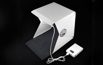 Mini składany przenośny produkt fotografowania lampa studyjna skrzynka z diodą LED tanie i dobre opinie OLOEY 22*23*24