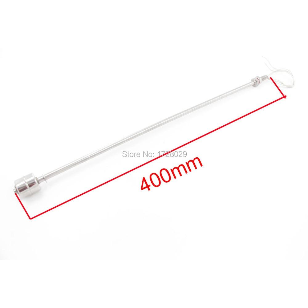 304 Edelstahl 400mm Länge Flüssiges Wasser Level Sensor Horizontale Flüssigkeit Float Schalter