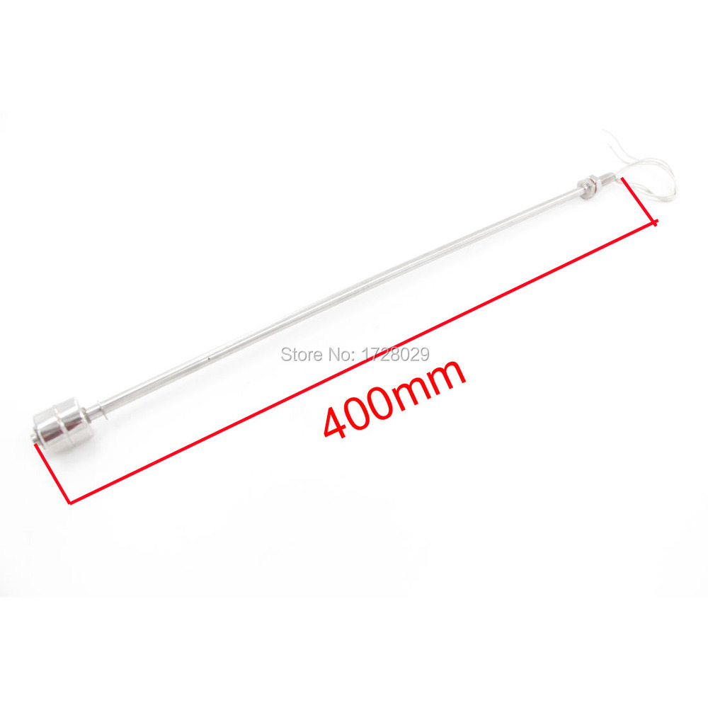 304 Stainless Steel 400mm Length Liquid Water Level Sensor Horizontal Liquid Float Switch