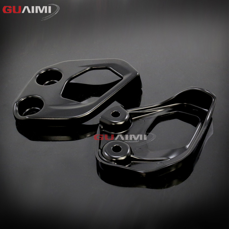 цена на Motorcycle Foot pegs Heel Guard Foot Rest Plate Guard Accessories For BMW R1200GS LC Adventure R 1200 GS ADV 2014 2015 2016 2017