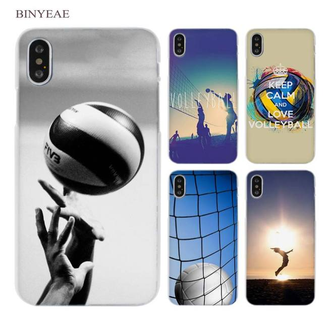 competitive price dd7f4 cead6 US $1.91 34% OFF|BINYEAE Volleyball Sports Clear Cell Phone Case Cover for  Apple iPhone X 6 6s 7 8 Plus 4 4s 5 5s SE 5c-in Half-wrapped Case from ...